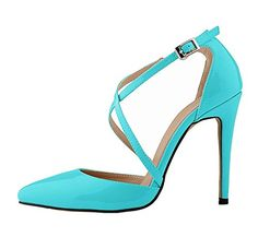 bangfox Women's Buckle Pointed-toe Stiletto High Heel Pump Shoes find..http://amzn.to/2dy0sU3