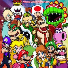 Super Mario Team by Princesa-Daisy on DeviantArt