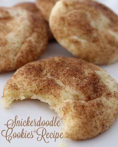 The Best Snickerdoodle Cookies Ingredients Print This Recipe Print This Recipe •1 cup butter •1 1/2 cups sugar •2 eggs •2 3/4 cups flour •2 tsp. cream of tartar •1 tsp. baking soda •1/2 tsp. salt •2 TB sugar •1 tsp. cinnamon
