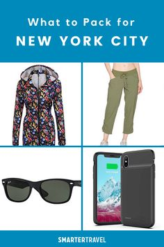 Uncertainty about what to pack for New York City leads many travelers to overpack, filling Gotham-sized luggage pieces even for short visits. Streamline your wardrobe with mix-and-match basics, punctuated with a few statement pieces and accessories.  Every New York packing list should include outerwear for cool evenings or rainy afternoons, plus essential gadgets like phone chargers and cameras. And remember—New York City is America's shopping mecca. Phone Chargers, Mecca, What To Pack, Packing Tips, Mix N Match, Gotham, Cameras, New York City, Gadgets