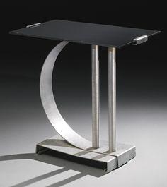 Walter Von Nessen  TABLE, MODEL NO. 451 impressed NESSEN STUDIO/N.Y.  aluminum and bakelite  17 7/8  x 18 3/8  x 12 in. (45.3 x 46.7 x 30.5 cm)  circa 1930  produced by Nessen Studio, Inc., New York