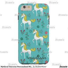 Mythical Unicorns Personalized Name Tough iPhone 6 Plus Case