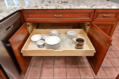 Cabinet Doors 'N' More offers pull out drawers. Pull out drawers allow you to access the entire contents of your cabinets. We offer drawers up to wide and deep. Melamine Cabinets, Refacing Kitchen Cabinets, Cabinet Refacing, Kitchen Cabinet Remodel, Custom Kitchen Cabinets, New Cabinet, Custom Kitchens, Wood Drawers, Cabinet Drawers