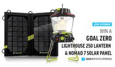 GEAR INSTITUTE GIVEAWAY // WIN A GOAL ZERO LIGHTHOUSE 250 AND NOMAD 7 SOLAR KIT
