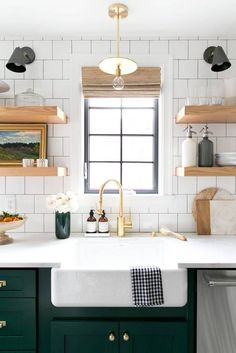 Shelves + tile