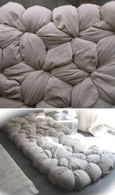 The oversized knit in another form - this is awesome! Modular Mattress DIY Kit - www.homeology.co.za