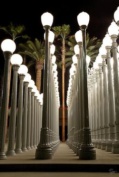 Chris Burden's Lights One by Endre Balogh Urban Lights, City Wallpaper, Secret Rooms, City Of Angels, Space Time, Famous Art, Light Installation, Illuminati, Light Art