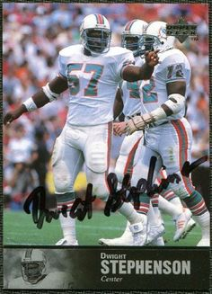 Dwight Stephenson, Miami Dolphins. Class of 1998.