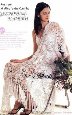 Uncinetto d'oro: Meravigliosa scialle a fiori!!!
