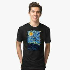 Jack starry night Tri blend T-Shirt #tee #tshirt #clothing #unisex #artstyle #Photography #Digitalmanipulation #nightmarebeforechristmast #halloween #jack #skellingtons #ghost #christmast #blackwhite #hauntedmansion #funny #cute #monster #kids #children #baby #skull #diademuertos #dayofthedead #skeletons #cartoons #comics #movie #scary #spooky #horor