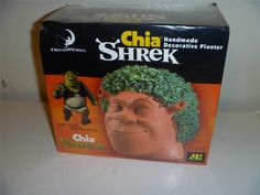 Dreamworks Chia Pet Shrek Handmade Decorative Planter Still SEALED | eBay   roflmbo