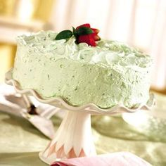 The Recipe Cupboard: PISTACHIO PUDDING CAKE. My husband's fire station calls this green cake.  It rocks!  Only change is that they use 3 boxes of pistachio pudding instead of 2 in the cake.  We make it every st. Patrick's day!