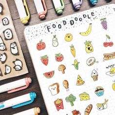 With every picture, my feed gets worse and worse can't really maintain a feed LOL but anyways Gorgeous is slowly growing on me and I'm… Bullet Journal Tools, Bullet Journal 2019, Bullet Journal Tracker, Bullet Journal Ideas Pages, Bullet Journal Inspiration, Doodle Drawings, Doodle Art, Fruit Doodle, Cute Doodles
