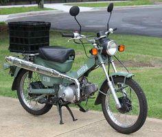 Honda CT110 Postie Bike - Army Design!