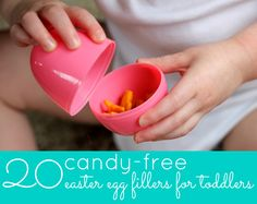 World Wide Wednesday: No-Candy Easter Basket Ideas - The Inspired Home: worked very well for Allie!!