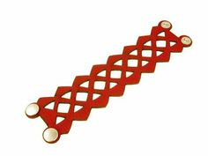 Laser Cut Patterns, Laser Cut Leather, Leather Jewelry, Italian Leather, Laser Cutting, Jewelry Bracelets, Jewellery, Closure, Red