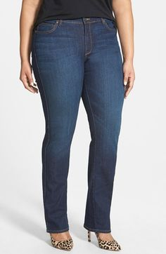 CJ by Cookie Johnson  Faith  Stretch Straight Leg Jeans (Plus Size)  366919c5dd75