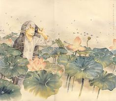 Ginko from Mushishi. One of the most quiet, beautiful anime I've ever seen.