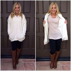 Arctic Bears Knit Oversize Fur Sweater Talk about cozy & comfy! Seriously feels like you're wrapped in a warm blanket, however we made sure comfort didn't completely take over style! Oh no, never! It is a one size fit all, and the fit is oversized. Completely lined in fur, even the hood!