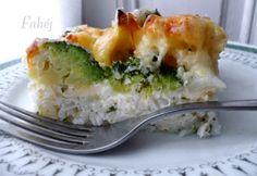 Sajtos brokkolis-karfiolos rakottas Falafel, Paella, Quiche, Sushi, Breakfast, Ethnic Recipes, Food, Breakfast Cafe, Essen