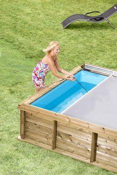 PiscineItalia - Piscina fuori terra in legno rettangolare PISTOCHE 2x2
