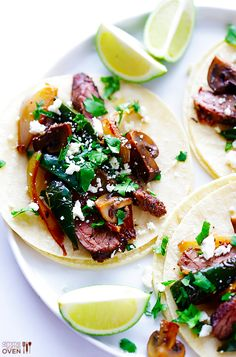 Steak, Poblano & Mushroom Tacos | 21 Mouthwatering Taco Recipes You Need To Try