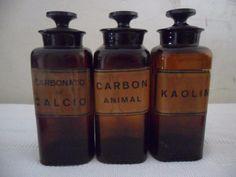 antiguos frascos de farmacia (lote)