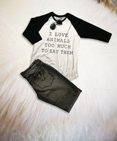 6a49c5a20 Raglan Baseball Tee Women Animal Lover Shirt Gifts for her Grey Raglan T  Shirt Clothing Animal Rescu