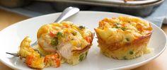 Impossibly Easy Mini Buffalo Chicken Pies recipe from Betty Crocker