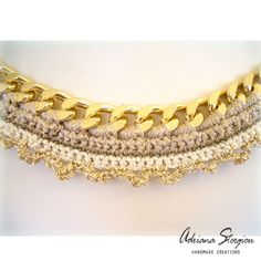 Crochet & chain necklace