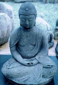 Buddha statue in meditation pose, Lake City Way, Seattle