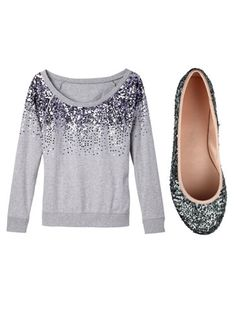 Sparkly stuff takes an outfit from a 5 to a 10 every time.""