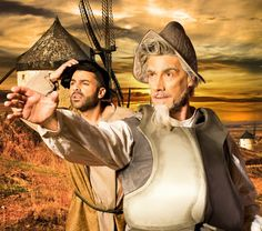"""Rob Allocca (left) is Sancho Panza, and Rusty Ferracane (right foreground) is Don Quixote in """"Man of La Mancha."""" The Theater Works production runs Oct. 9–25 at the Peoria Center for the Performing Arts in Peoria, Arizona. - #examinercom"""