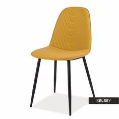 Krzesło Ribeira żółte - Krzesła tapicerowane, Jadalnia - Selsey