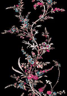 Flora Flowers, Botanical Flowers, Big Flowers, Textile Prints, Floral Prints, Textiles, Collage Techniques, Laurel Leaves, Japanese Prints
