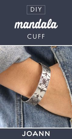 For a fun handmade jewelry project, check out this one from JOANN! This DIY Mandala Cuff would be a great accessory to add to any outfit this spring. Don't you just love the intricate pattern?