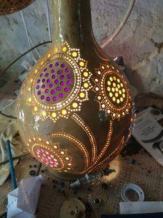 Gourd lamp flowers