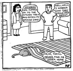 """94 Hilarious Comics About Life With Dogs By Off The Leash"""""""" Cute Funny Animals, Funny Dogs, I Love Dogs, Puppy Love, Big Dogs, Dog Jokes, Dog Humour, Dog Funnies, Dog Comics"""