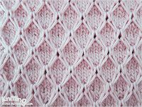 Diamond Mesh Techniques used in this pattern : Knit: K Slip Stitch Knitting, Knitting Stiches, Knitting Charts, Lace Knitting, Crochet Stitches, Stitch Patterns, Knitting Patterns, Crochet Patterns, How To Purl Knit