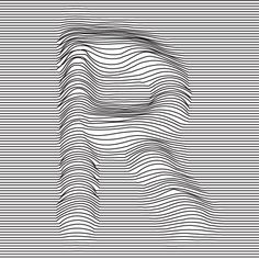 ALPHABATTLE – R — LetterCult Illusion Kunst, Illusion Art, Art Optical, Optical Illusions, Op Art Lessons, Art Sketches, Art Drawings, Illusion Pictures, Abstract Line Art