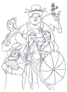 Mulan's team by Ohanamaila