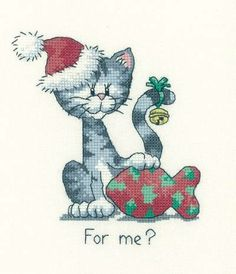 A cute Christmas cross stitch kit for cat lovers, this piece is sure to raise a smile when it's unwrapped on Christmas Day. Designed by Peter Un...