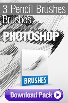 Photoshop Brushes: 3 Pencil Brushes for Photoshop http://pixelstains.net/3-pencil-brushes-photoshop/