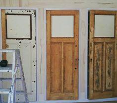 Inbouwkast met oude deuren