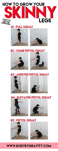 Grow your leg size and strength with these 4 amazing pistol squat progressions. Perfect your squat so you never experience knee discomfort ever again. Bodyweight Strength Training, Pilates Training, Endurance Workout, Lose Body Fat, Body Weight, Weight Loss, Losing Weight, Pistol Squat Progression, Body Type Workout