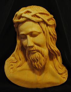 Head of Christ - Basswood, 9x6x2. Rough out from Smoky Mountain Carvers.