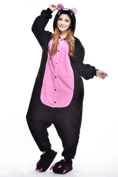 61e9f9ea8f Halloween Black Pig Pyjamas Unisex Adult Couples Cosplay Costume