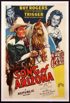 Song of Arizona Roy Rogers 1946 cult western movie poster print