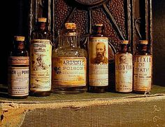 These are great label designs for potions.  DIY Secret Book of Sinister Potions