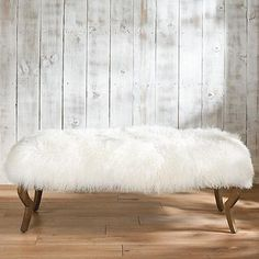 Harry Bench with Mongolian Sheep Fur Cover